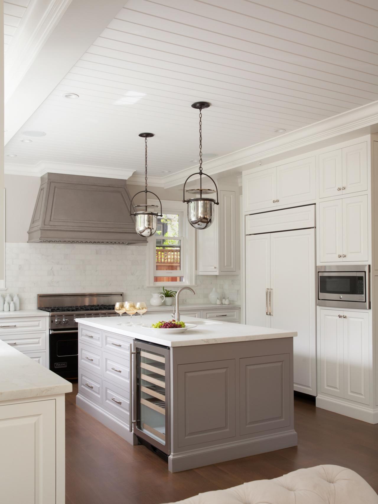 Kitchen Island With Prep Sink Best Designs Gray W And Wine Fridge Carrara
