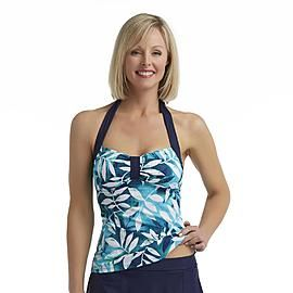 Jaclyn Smith Women's Tankini Swimsuit Top - Leaf Print at Kmart ...