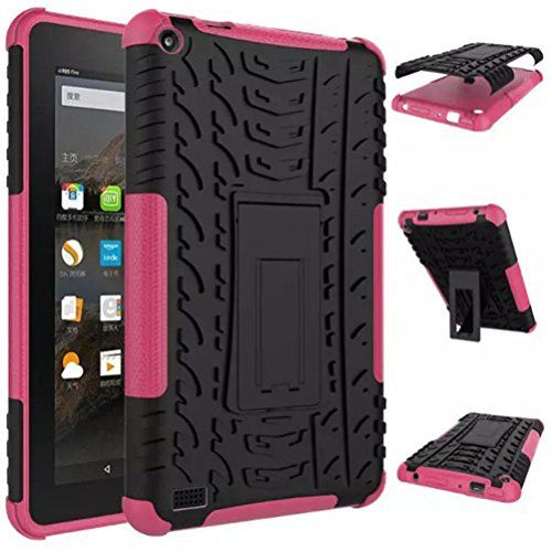 """For 2015 Amazon Kindle Fire HD 7"""" Tablet TOOPOOT Rugged Rubber Shockproof Stand Case (d) *** More info could be found at the image url."""