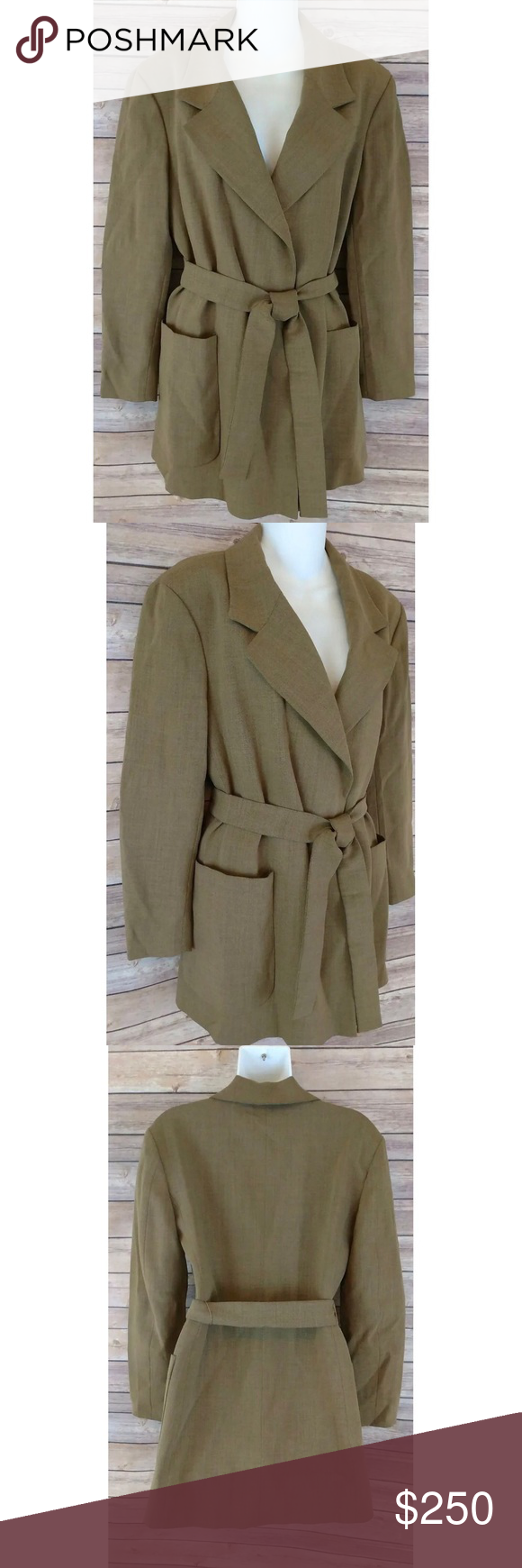 "Fendi blazer jacket Gorgeous Fendi 365 blazer jacket fully lined and has a tied waist. Made in Italy and is new with tags!  Size: 8 US  Bust: 17"" from underarm to underarm  Length: 32"" from shoulder to hem  Arm Length: (Inseam: 16.5"") (Outer: 22"") Fendi Jackets & Coats Blazers"
