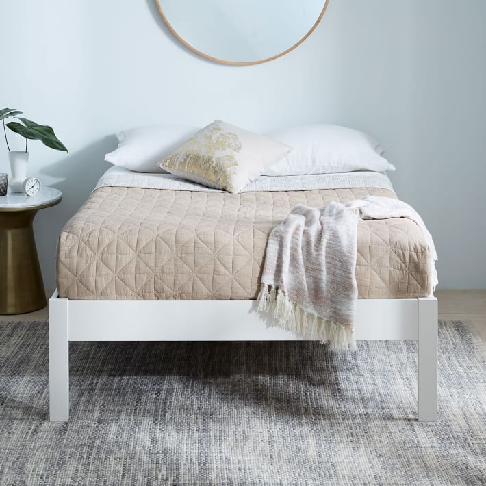 Simple Bed Frame Tall White Simple Bed Simple Bed Frame