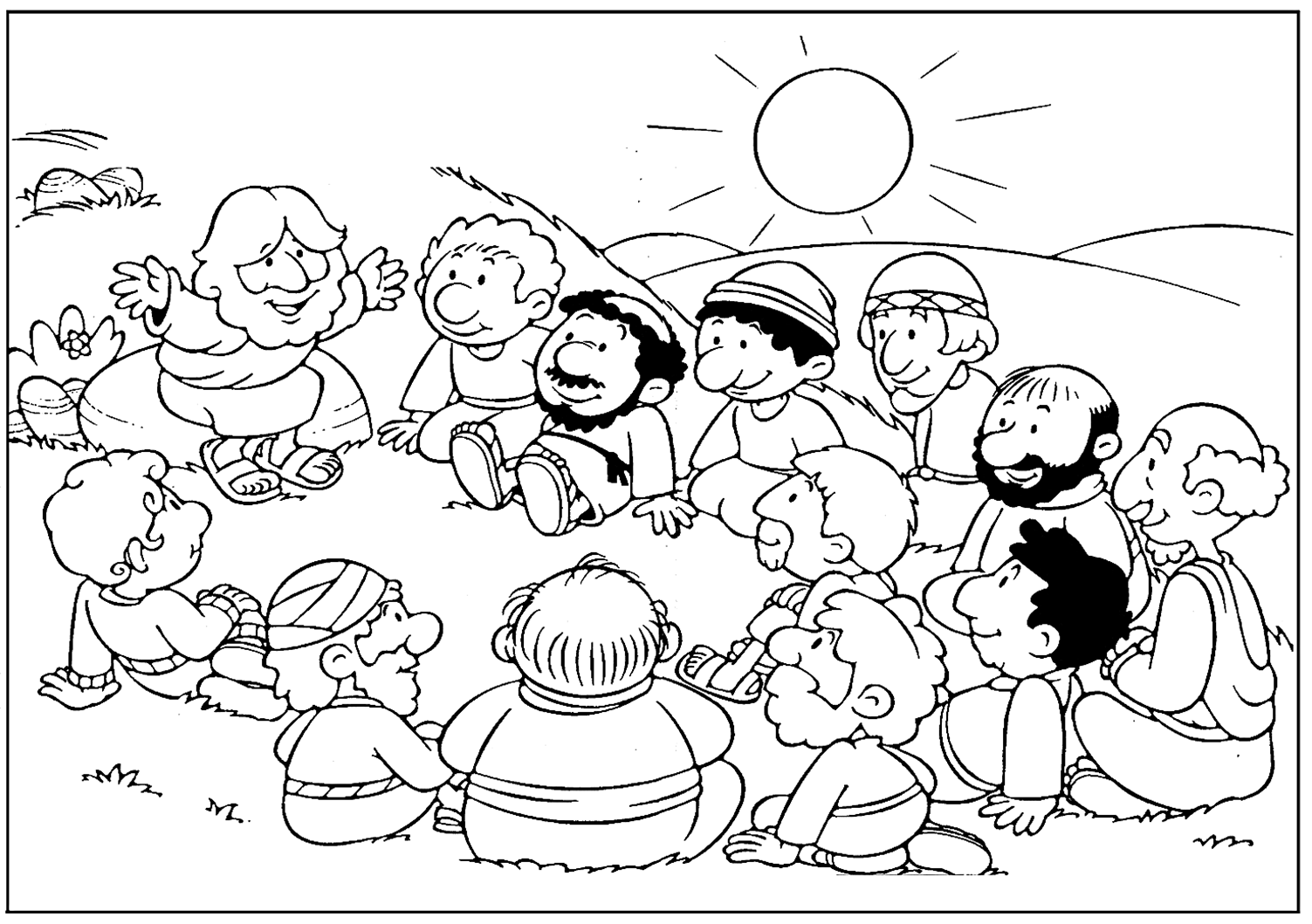 Site is in Spanish but it has a lot of good coloring pages for Bible ...