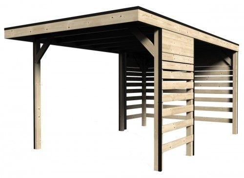 Carport en bois massif - 3 x 485 m - 13m² Huise Pinterest - construire un garage en bois m