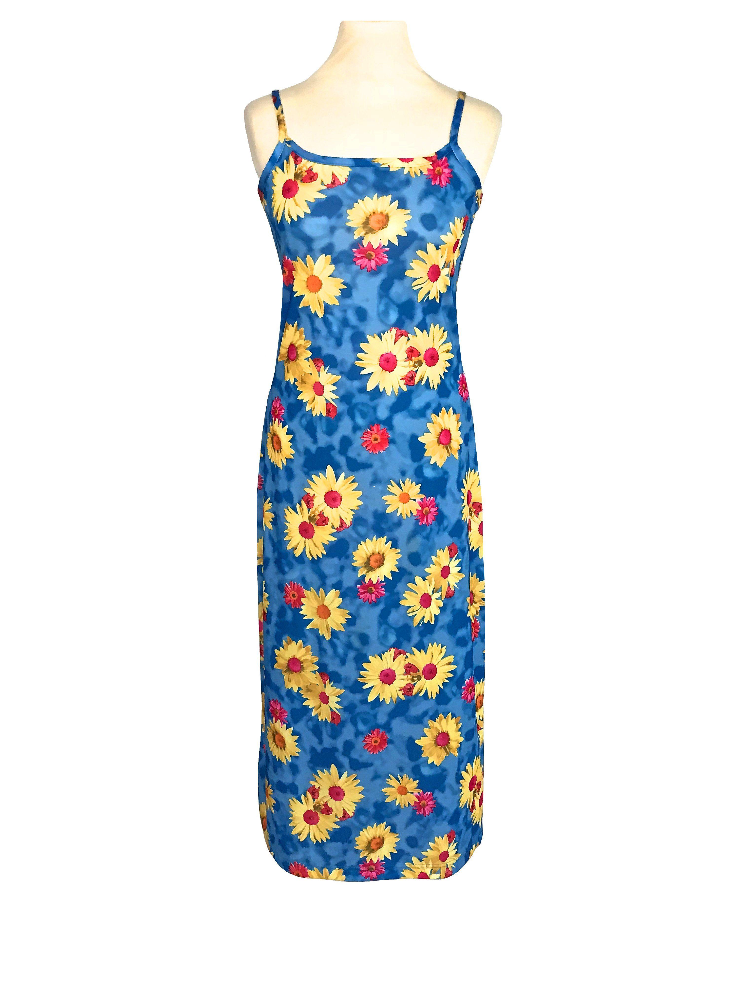 Floral Summer Dress 90s Sundress Grunge Mini Red Orange Floral Sun Rayon V Neck Tropical 1990s Bohemian Vintage Shift Boho Sleeveless Medium