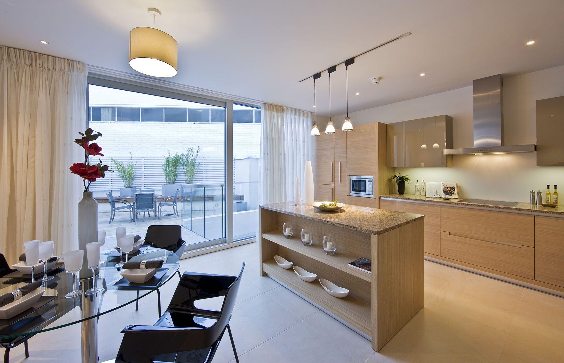 Cucina #Alison rovere di #AuroraCucine con isola centrale - anta ...