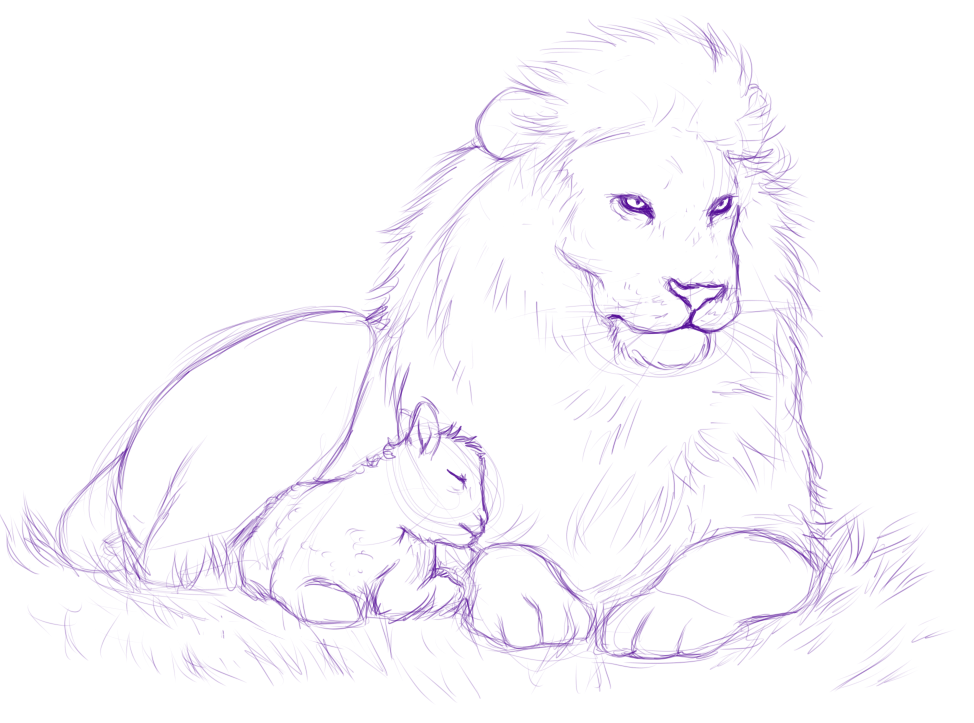 The Lamb and the Lion sketch by *MelvisMD on deviantART | Tattoos ...