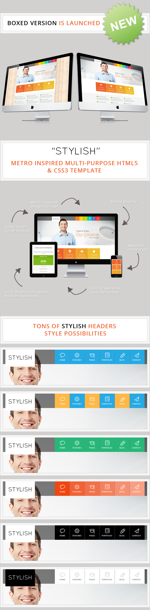 STYLISH WordPress Version Is Now Available !!!        	                  STYLISH – Is a clean and responsive design that comes with rich tools and options to make creating website incredibly simple.  With a tons...