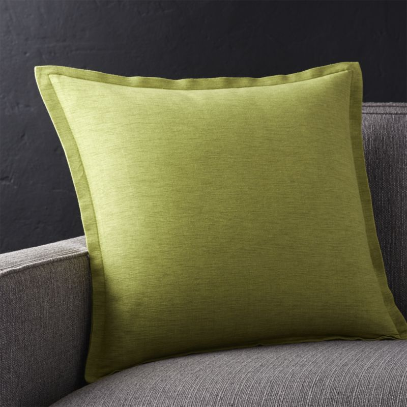 Linden Apple Green 40 Pillow Crate And Barrel Money To Spend Extraordinary Apple Green Decorative Pillows