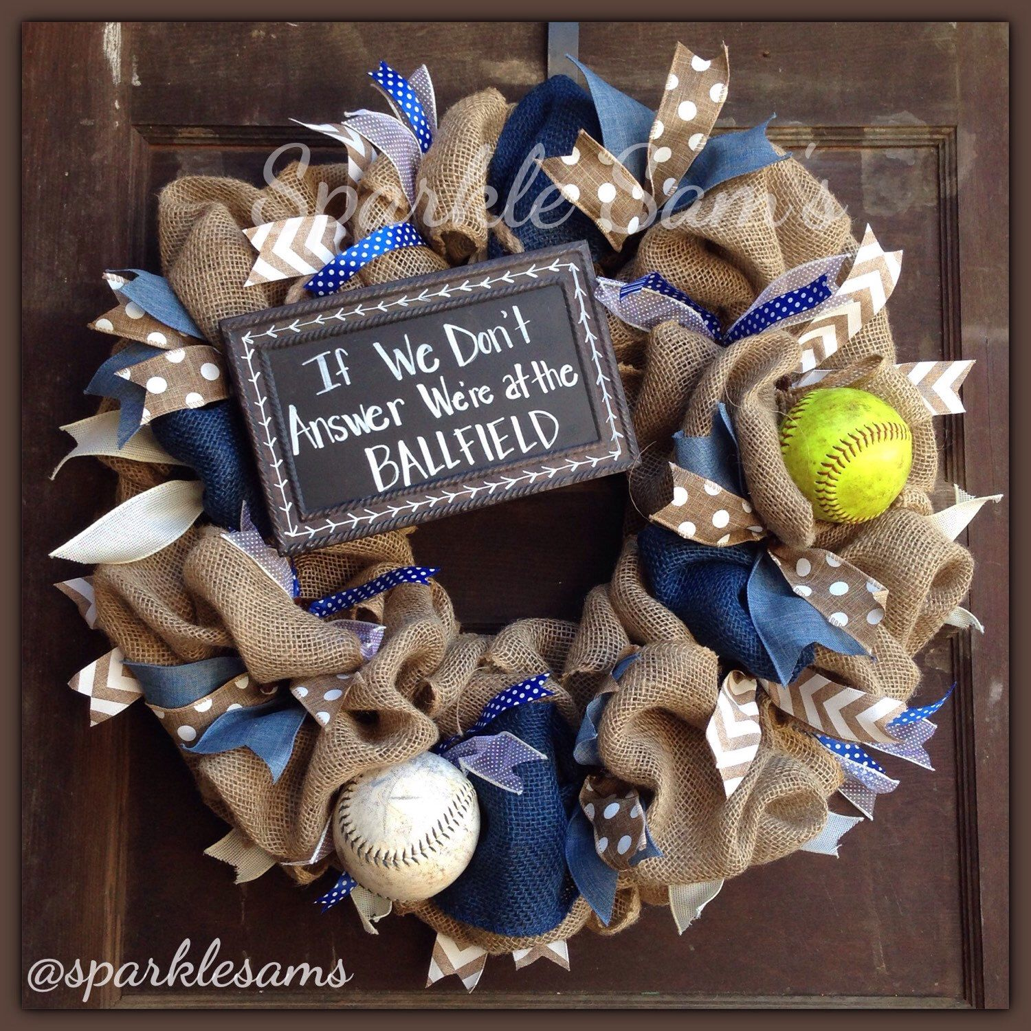 We're At the Ballfield Wreath by Sparklesamswreaths on Etsy https://www.etsy.com/listing/266881721/were-at-the-ballfield-wreath
