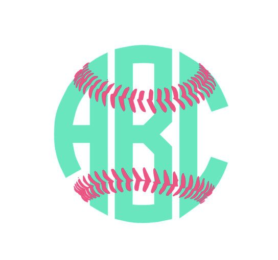 Softball Monogram Decal For Car Laptop Cup By ASweetSouthernAccent - Vinyl stickers for cups