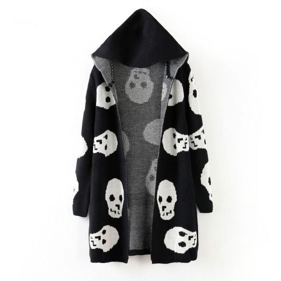 autumn wild new Korean loose yards outside the skull long knit Cardigan