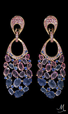 Mousson Splash Collection | Yellow gold, Multicolored sapphires