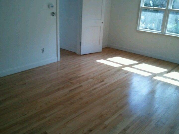 Red Oak Floor Finished With Bona Woodline Satin Finish