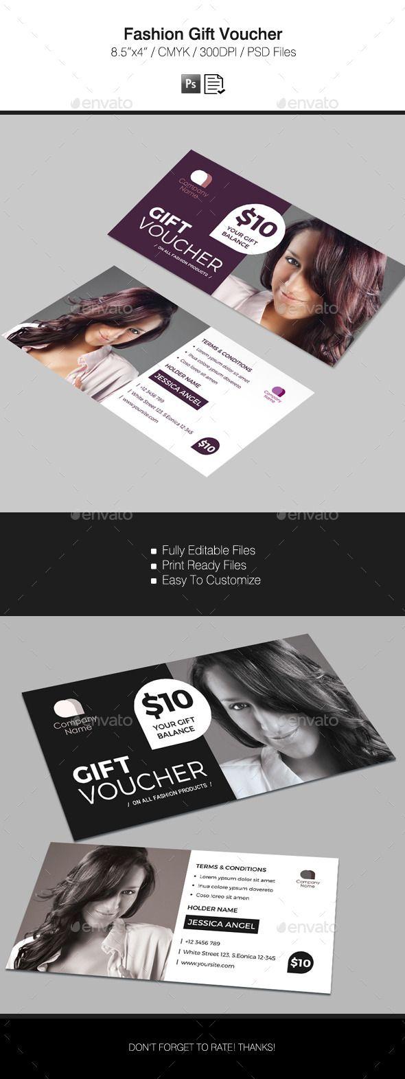 Fashion Voucher Template PSD Design Download Graphicriver