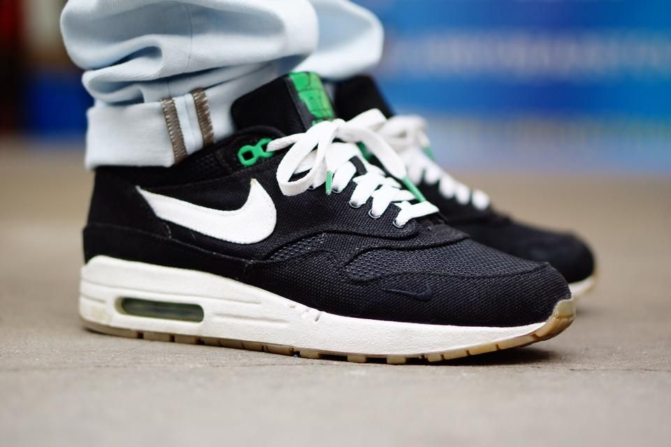 Sweetsoles – Patta x Nike Air Max 1 BlackLucky Green (by