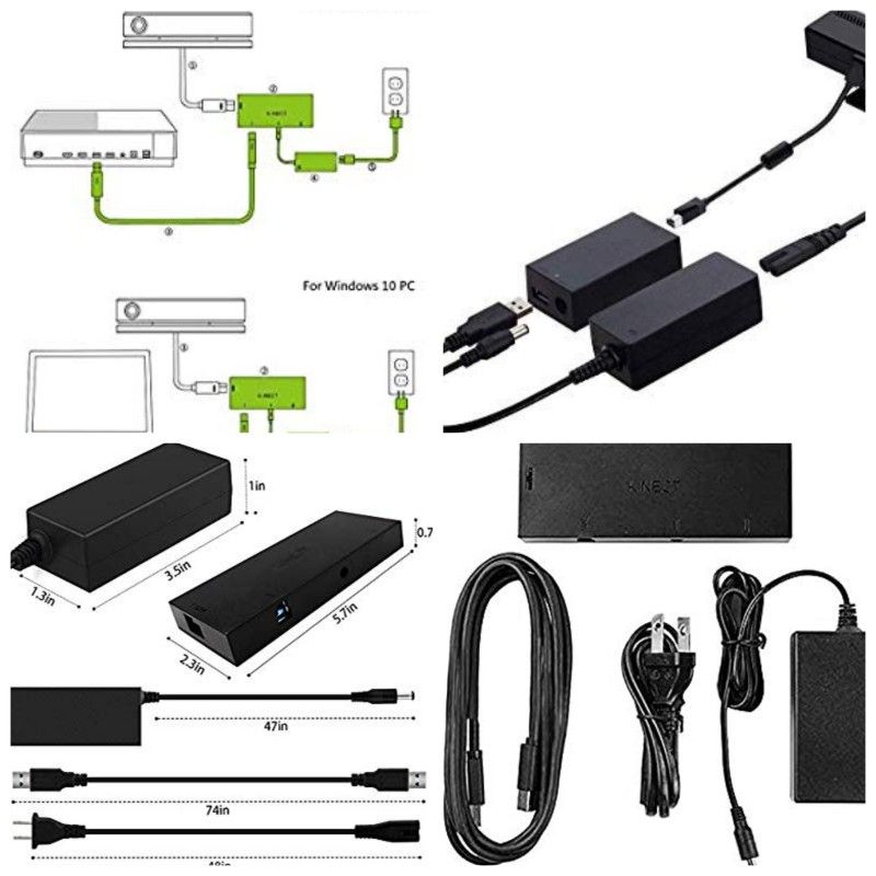 Xbox One Kinect Adapter for Windows 10 PC,Xbox One S and Xbox One X