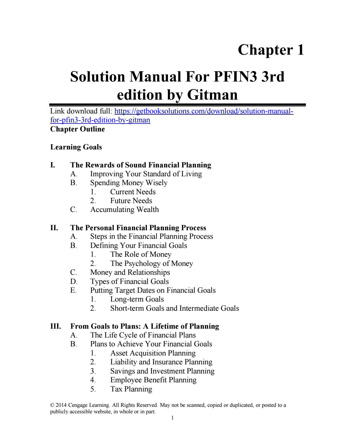 Solution manual for principles of managerial finance 14th edition.