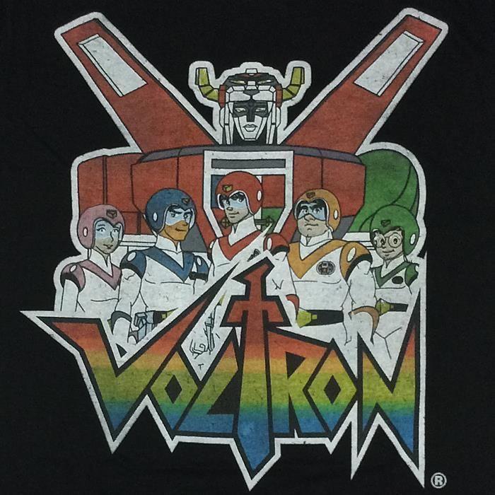 3df3d6527 Voltron Lion Force Group Pose 80's Cartoon Tee / Black T-Shirt / Sizes -  M,L,XL #Voltron #GraphicTee #Everyday