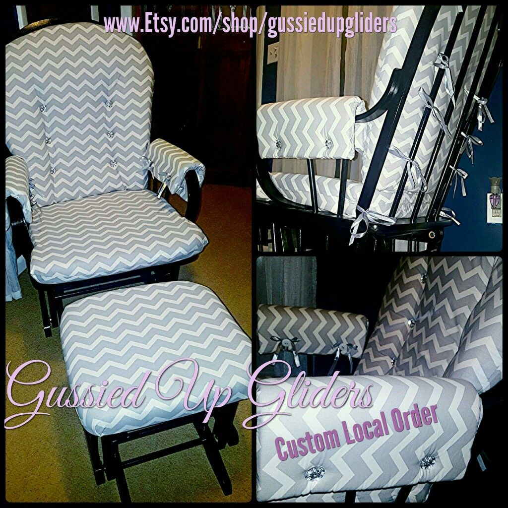 Custom Glider Cushion set and arm rests custom design chair