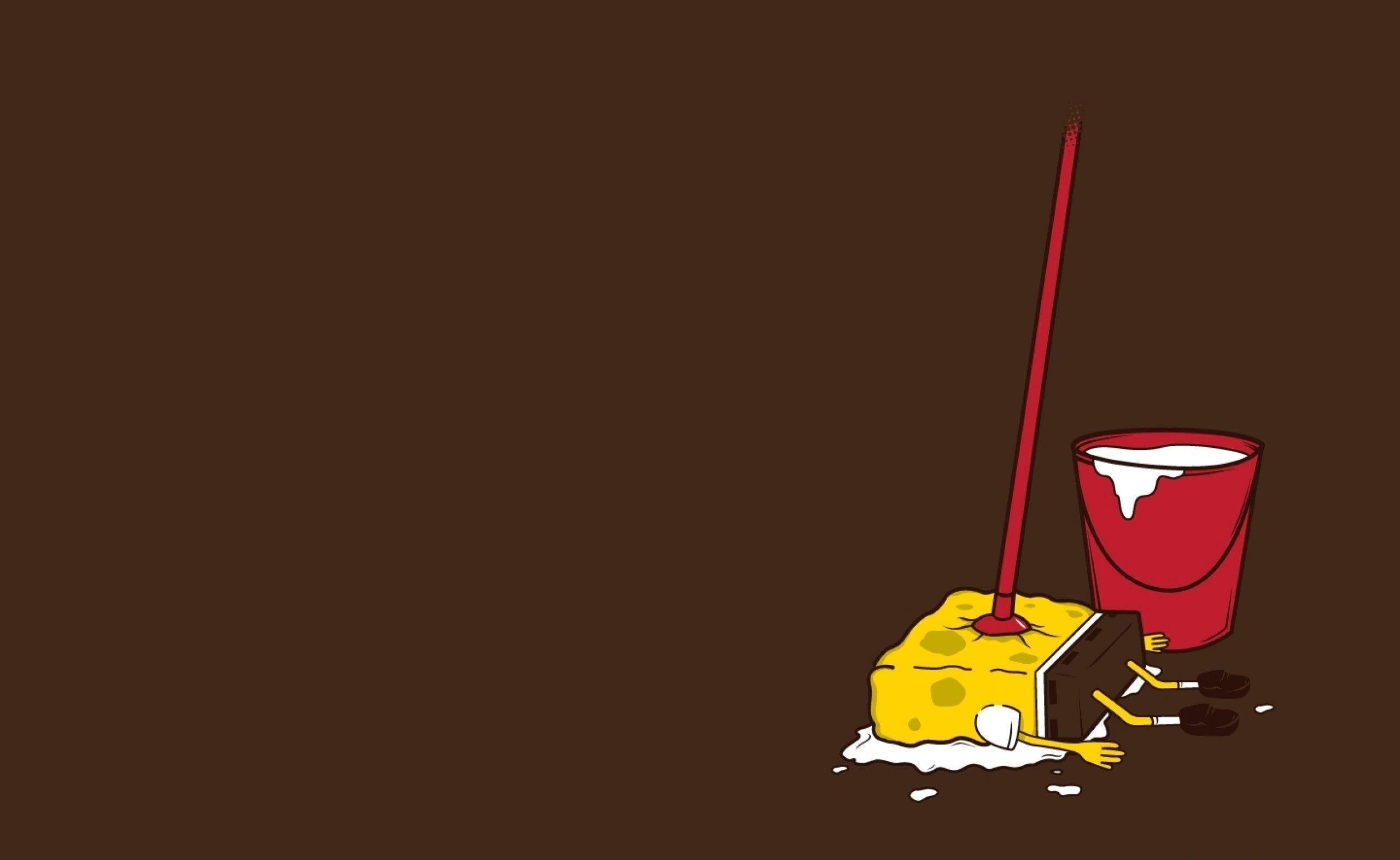 Wallpaper Funny Spongebob Squarepants Wash Sponge Mop • Wallpaper For You HD Wallpaper For Desktop & Mobile