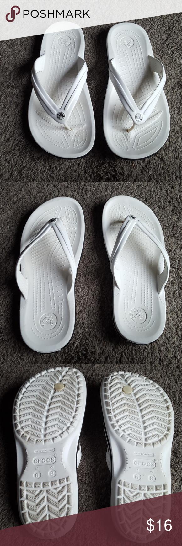 White Crocs Sandals Size 8 Crocs Sandals Crocs Sandals