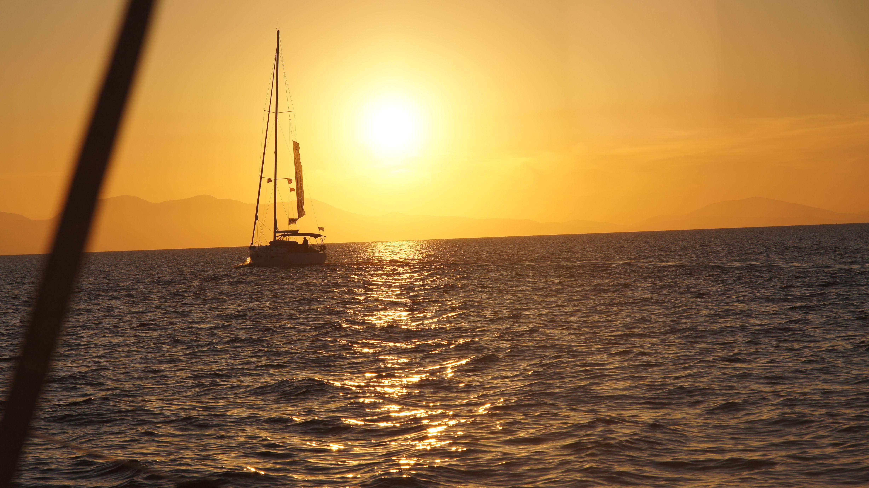 "Catching the ""very morning"" sun .  #ArgosaronicGulf #YachtcharterGriechenland #YachtcharterSaronischerGolf"