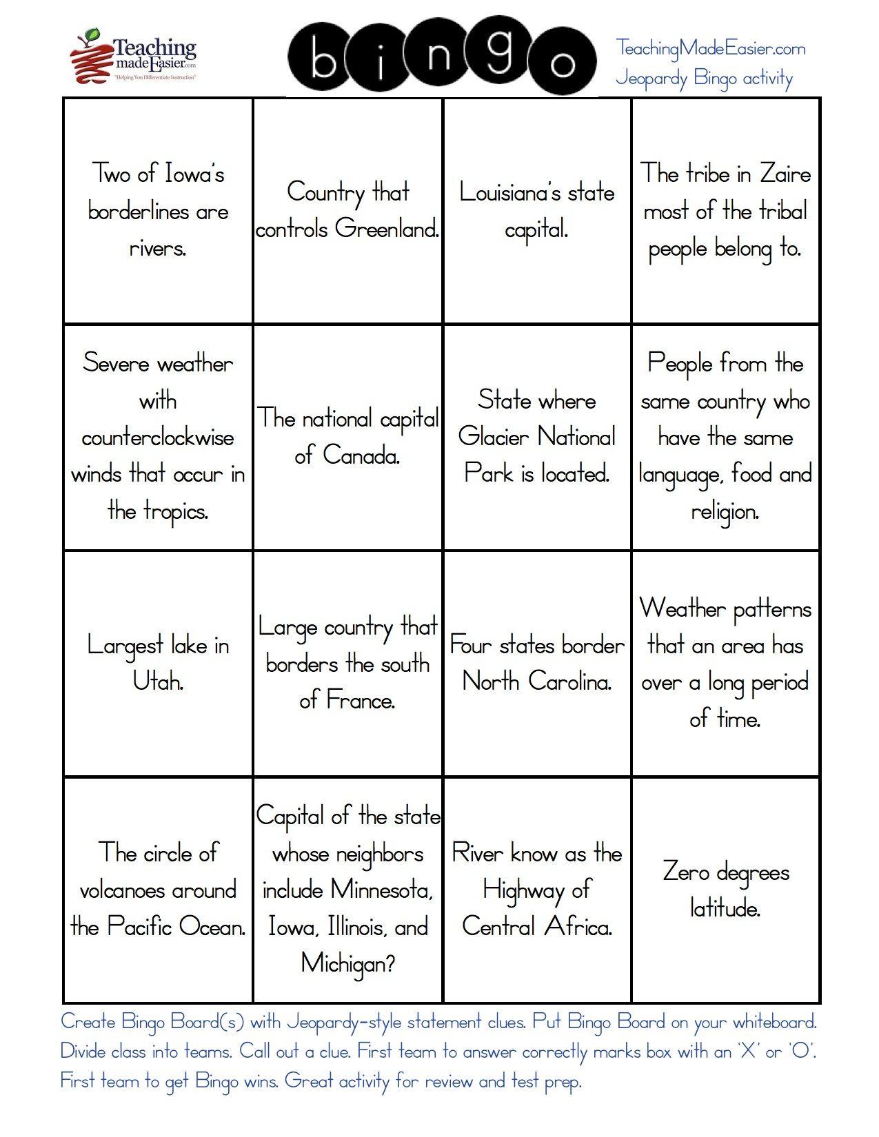 Create Custom Jeopardy Bingo In 3 Easy Steps With