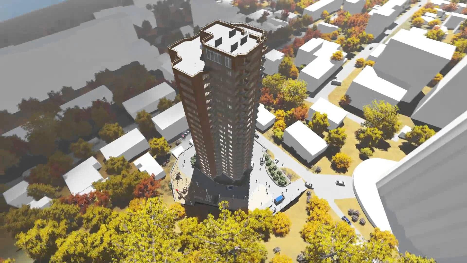 Три различных варианта возможного здания в г. Владивосток по адресу Металлистов,3