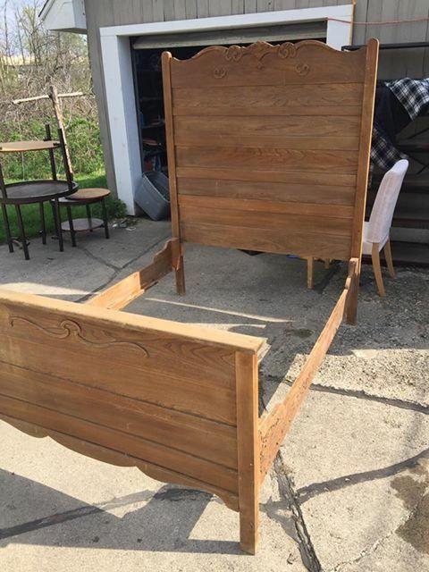 Antique High Back Bed How To Antique Wood Oak Bedroom Furniture