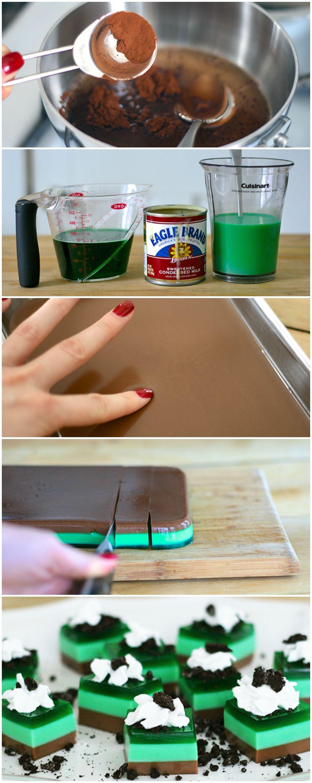 Thin Mint Jelly Shots