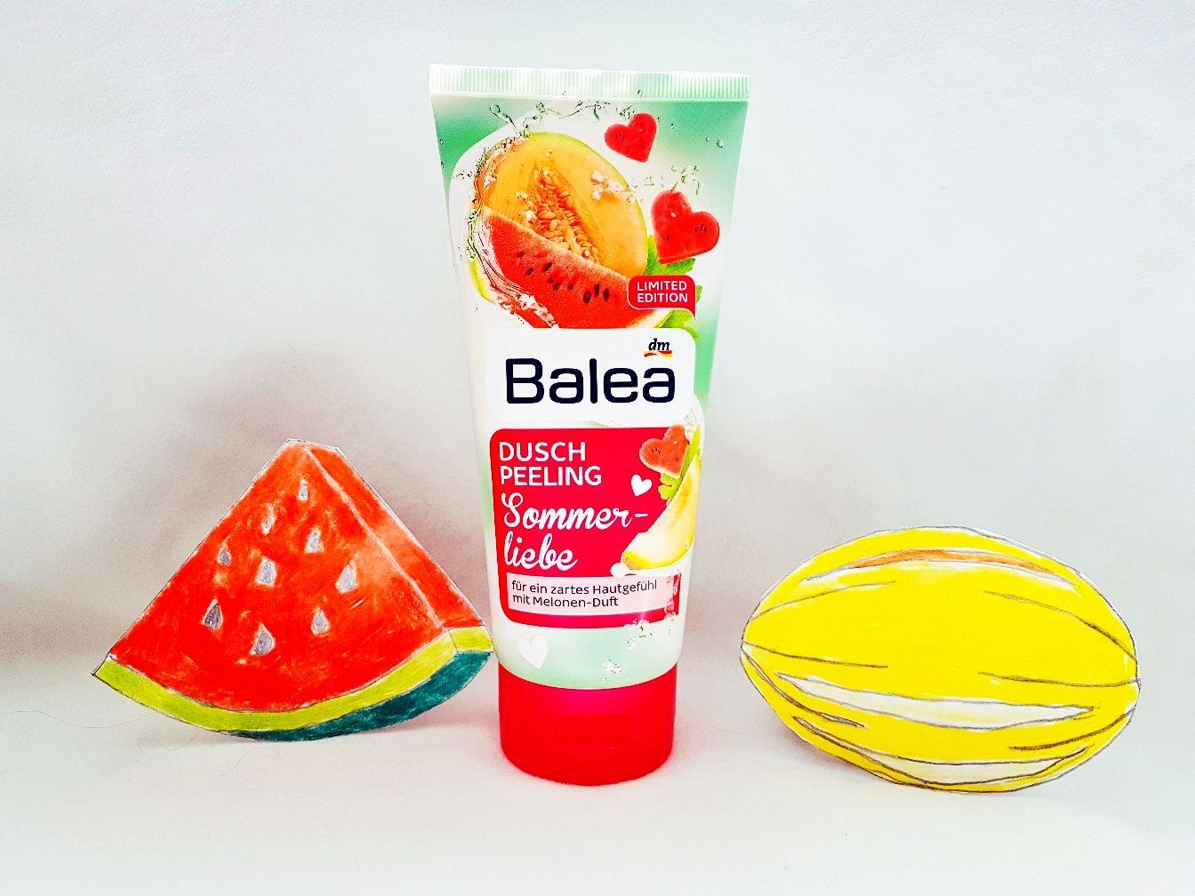 Balea Duschpeeling Sommerliebe mit Melonen Duft