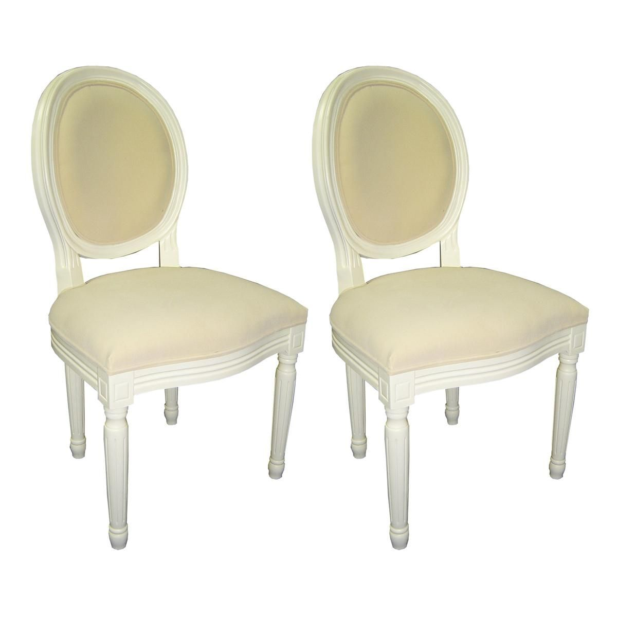 Chaise Baroque Salle A Manger Blanc Medaillon Lot De 2 Miliboo Chaise Baroque Salle A Manger Blanche Chaise Contemporaine