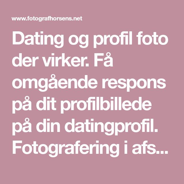 Dating profil fotografering
