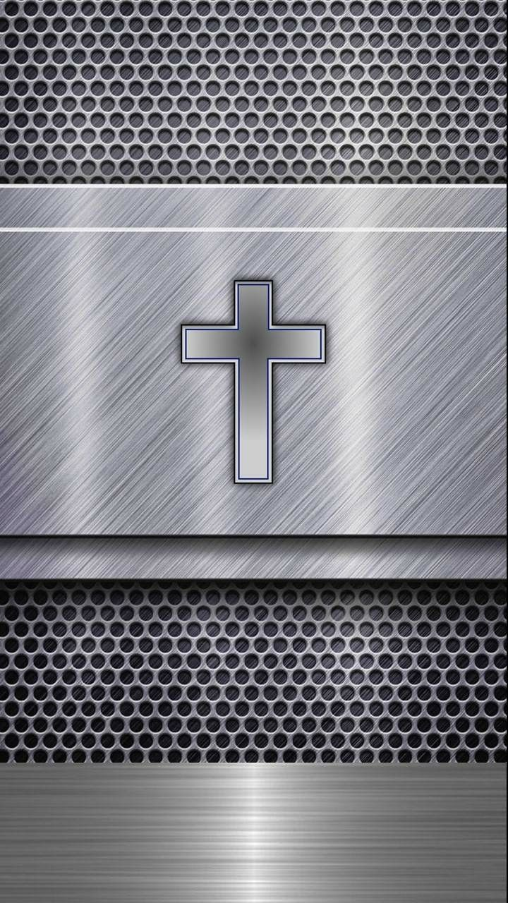 Steel Chrome Cross Wallpaper Cross Wallpaper Apple Logo
