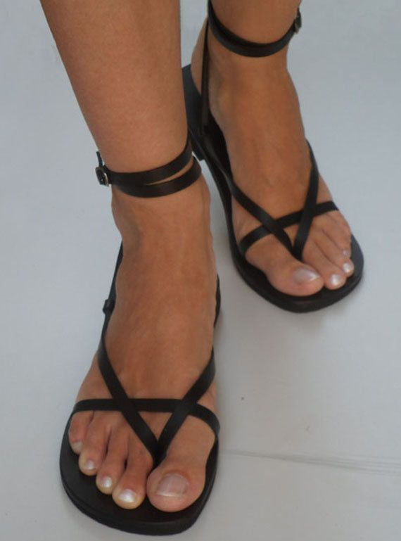 a0369fe9f3c3 Ankle Strap Leather Sandals Sunshine by Calpas on Etsy