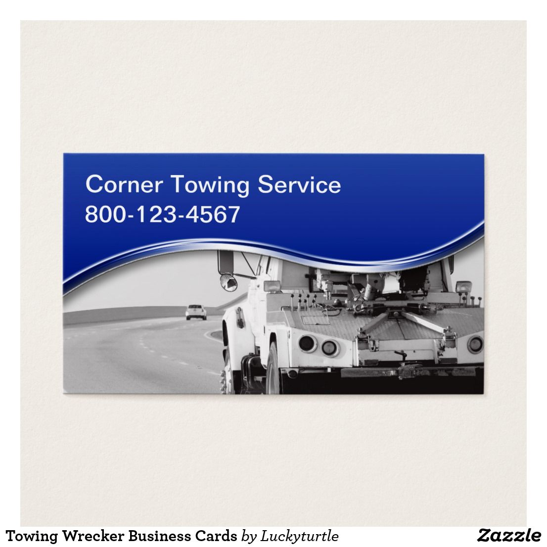 Towing Wrecker Business Cards Business