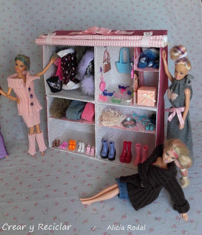 C mo hacer armarios para mu ecas parte 2 esta es la - Como hacer una caja de carton ...