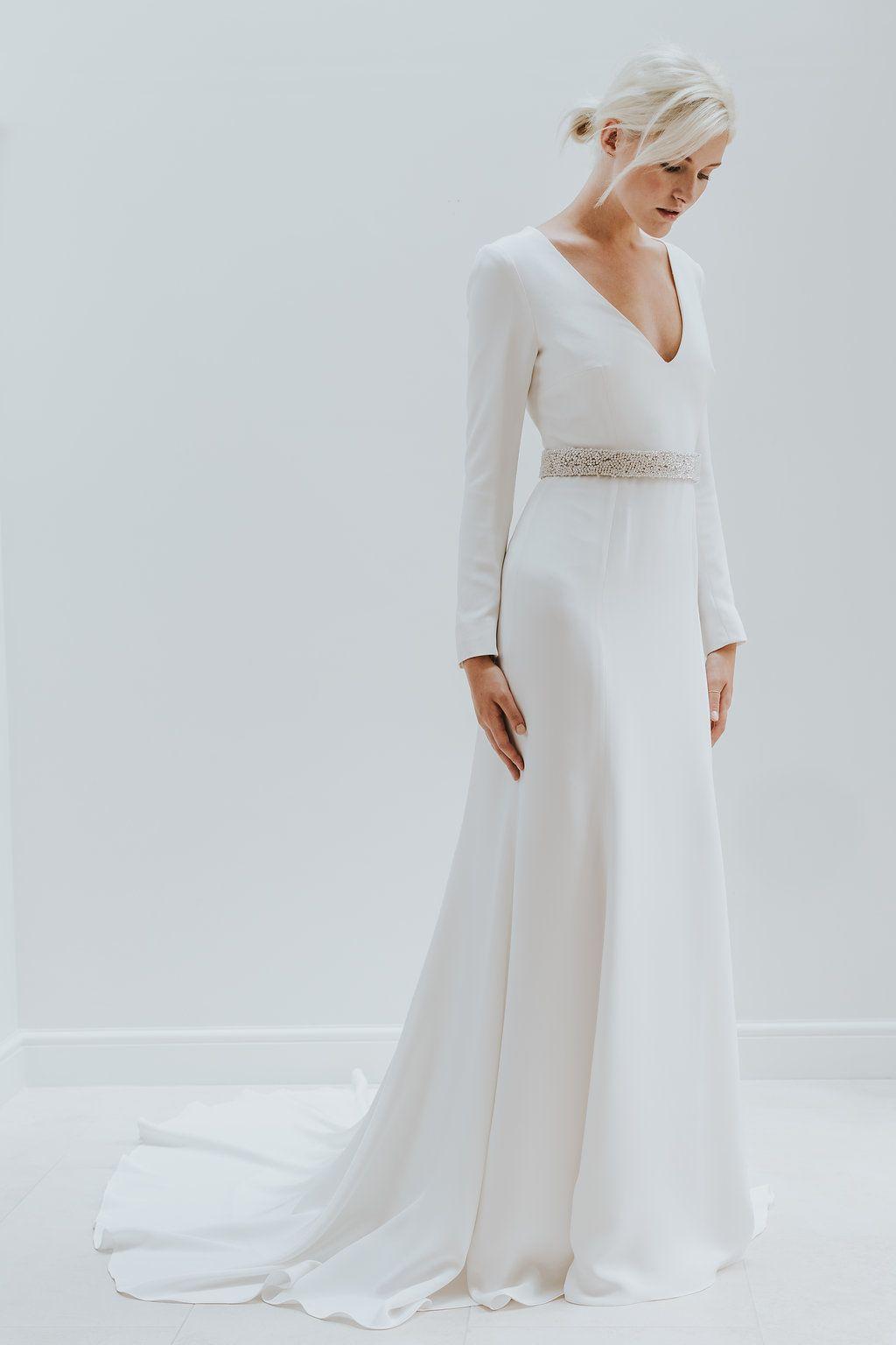233b0af33e4c Elegant   Minimal Bridal Gowns by Charlotte Simpson