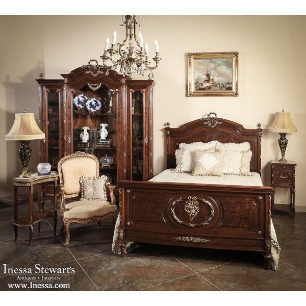 Antique Furniture | Beds | Antique French Louis XVI Mahogany Queen Bedroom  set | www. - Antique Furniture Beds Antique French Louis XVI Mahogany Queen