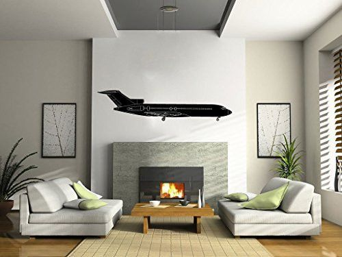 Boeing  Airplane Silhouette Vinyl Wall Decal Sticker Vinyls - Vinyl wall decals application instructions