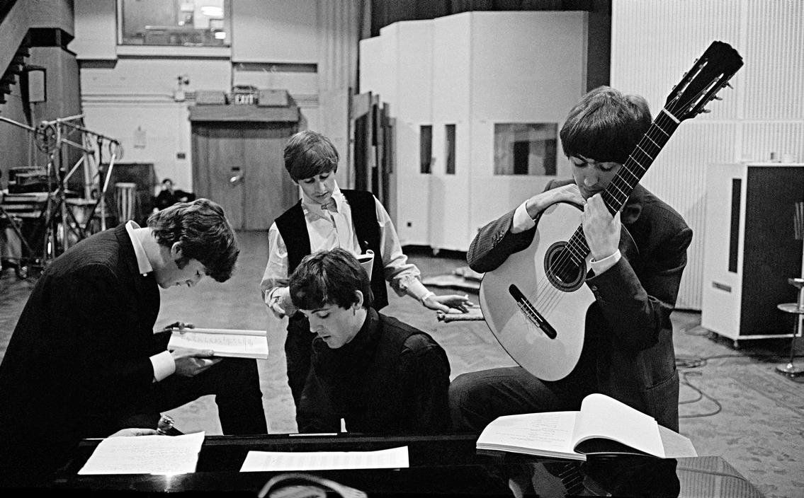 27th February 1964. The Beatles work on new material for