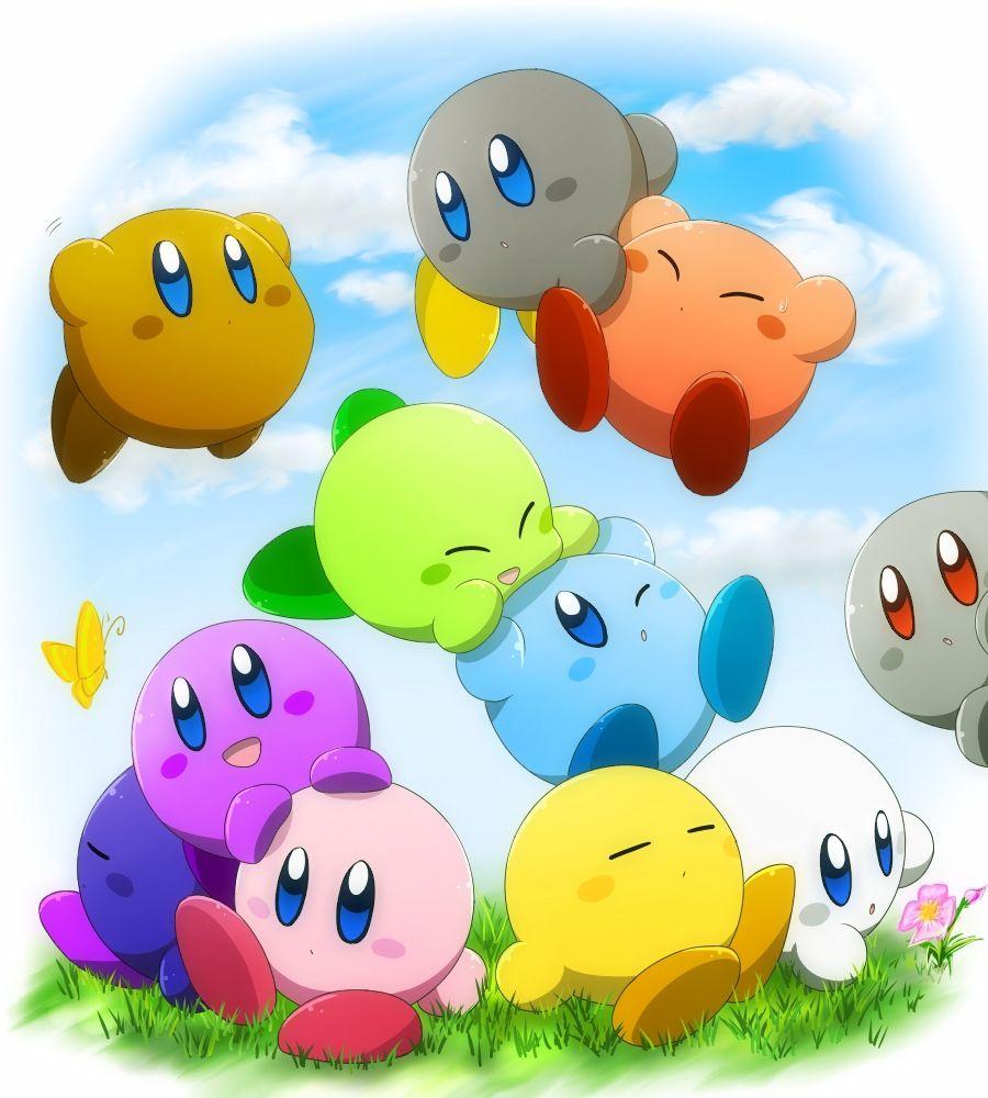 Colorful Kirbys Kirby Kirby Art Kirby Games
