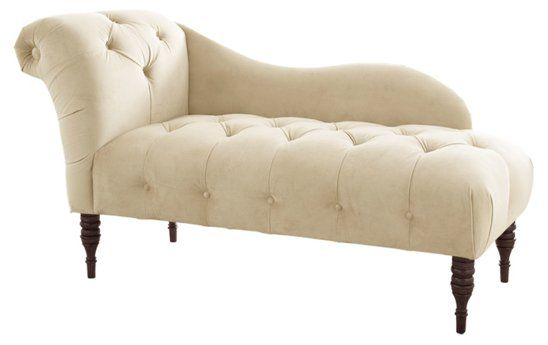 Frances Tufted Chaise Cream Velvet In 2020 Chaise Lounge White Lounge Chair Tufted Chaise Lounge