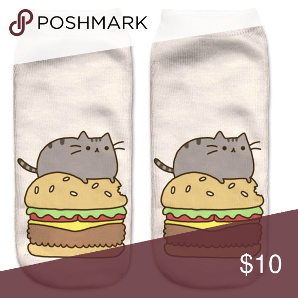 PUSHEEN And his Hamburger Ankle Socks Too Cute 1-$10💕2-$16💕$3-20💕 Choose from ANY of my socks for the deal! BIG DISCOUNTS WITH BUNDLES!!! Accessories Hosiery & Socks