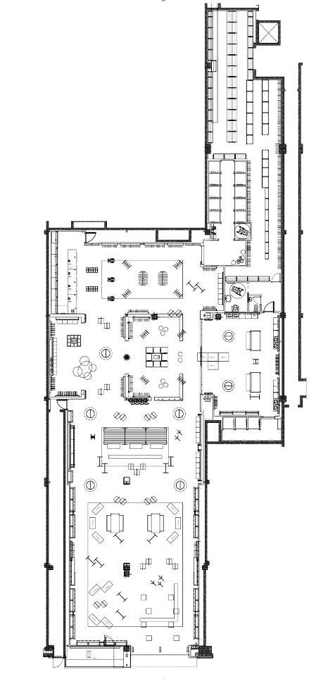PLANO MOBILIARIO CENTRAL Y PERIMETRO (estudio de planta y desarrollo de areas)