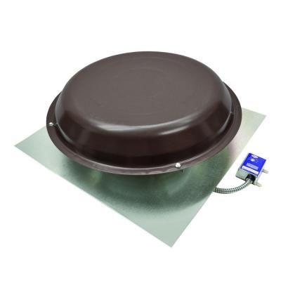 Master Flow 1250 Cfm Power Roof Mount Vent In Brown Brown Tan In 2020 Roof Vents Roof Exhaust Fan Roof