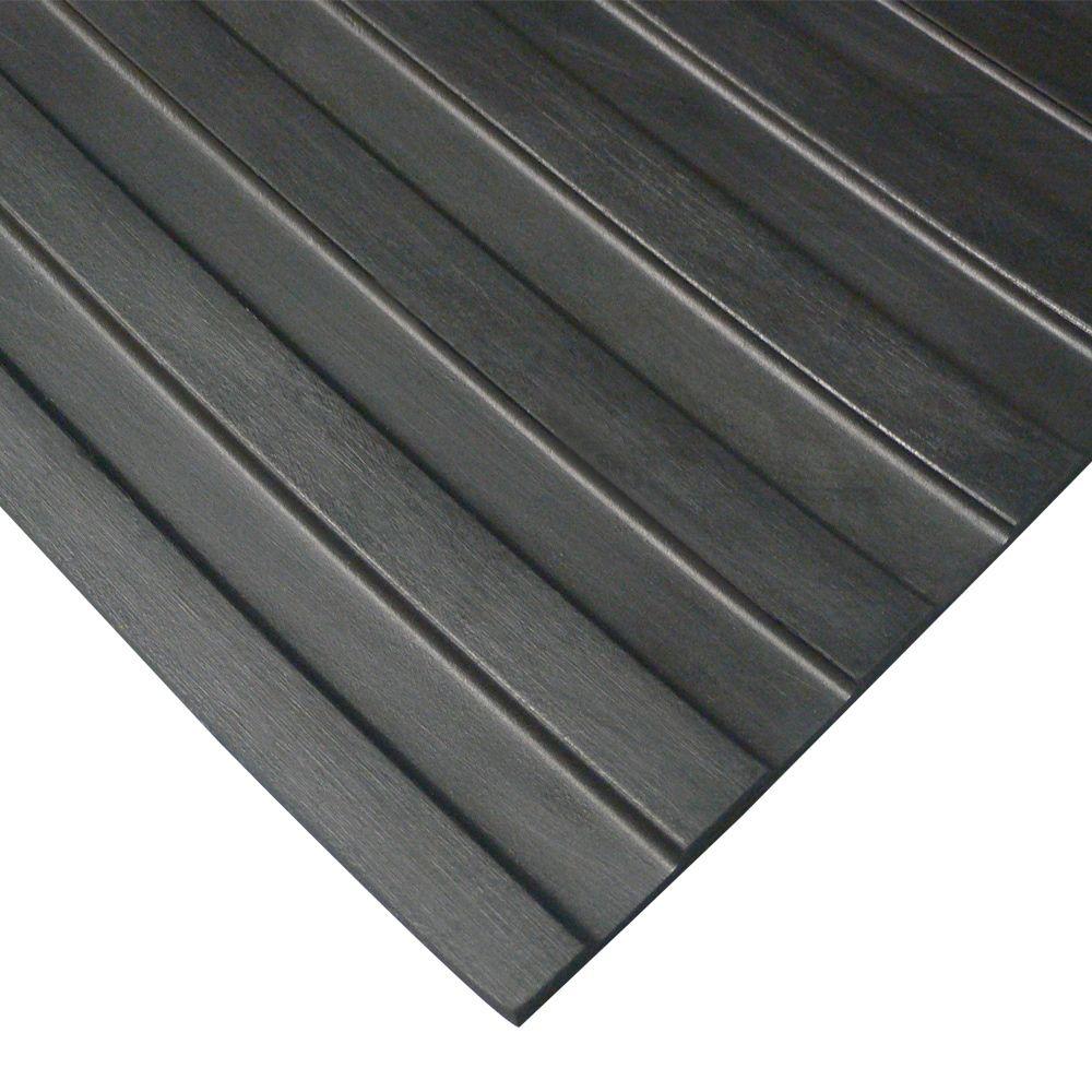 Rubber Cal Wide Rib Rubber Flooring Rolls 1 8 X 3ft Wide Runner Mats Black Offered In 6 Lengths 36 X 240 Rubber Flooring Rubber Floor Mats Floor Mats
