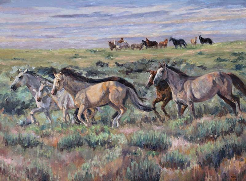 """""""Icons of the West"""" Oil 30x40 $3,000.00"""