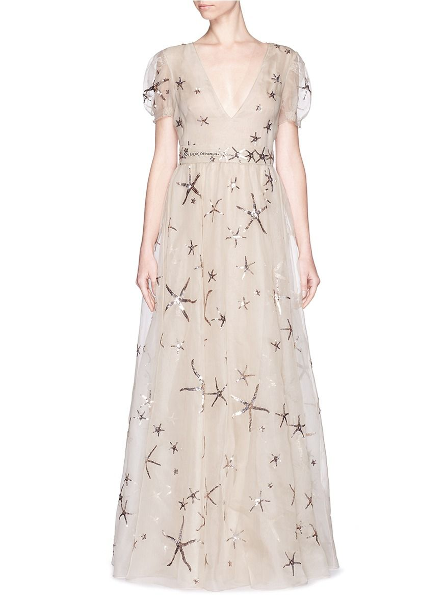 156c70b45da VALENTINO Sequin Starfish Silk Organza Gown.  valentino  cloth  gown ...