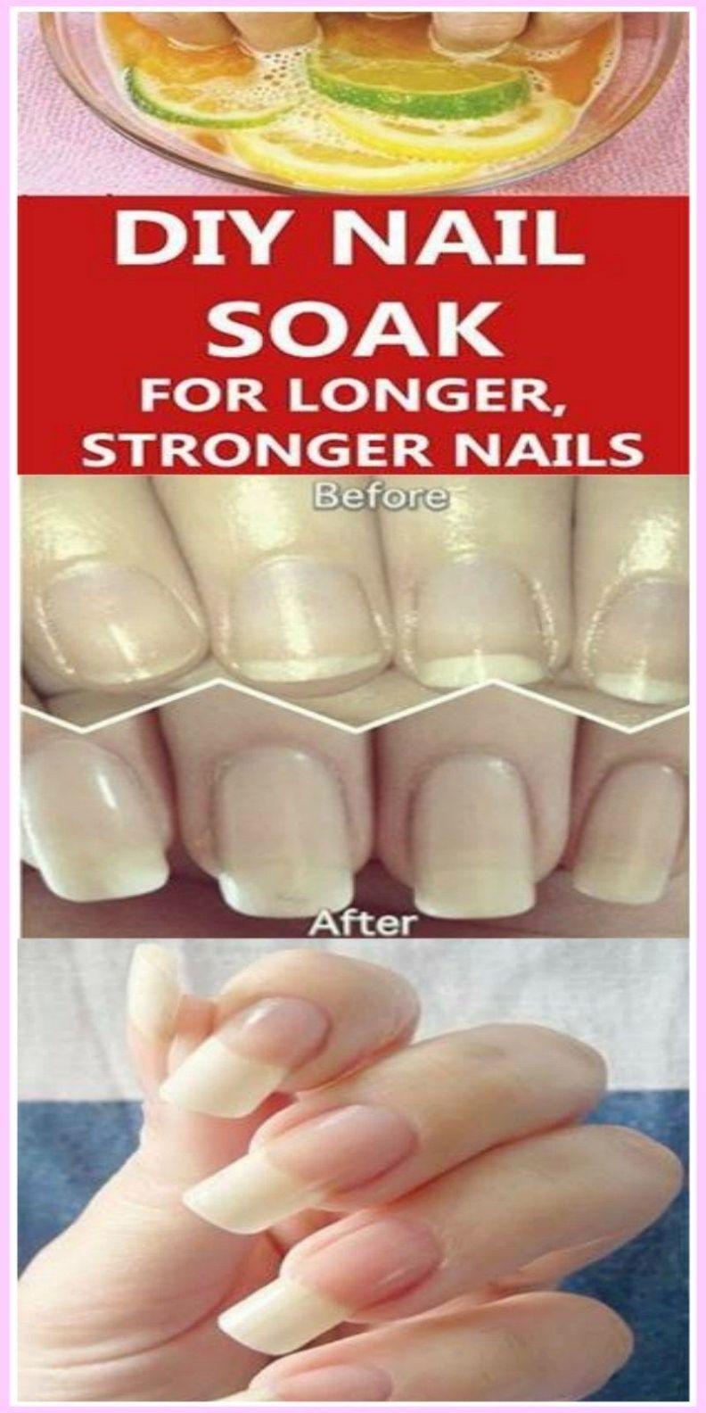 Diy nail soak for longer stronger nails diy nails soak